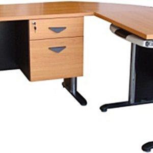 RDTBN-G02 โตีะทำงานผู้บริหารหน้าโต๊ะติดผิวเมลามีนกันน้ำ กันความร้อน กันกระแทก