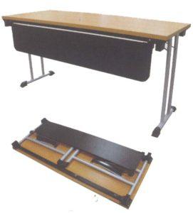 โต๊ะพับอเนกประสงค์หน้าเมลามีน+แผ่นบังหน้า