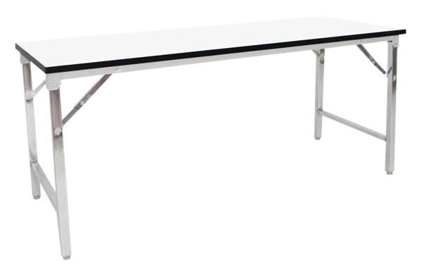 โต๊ะพับหน้าขาว
